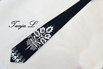 Doplnky - pánska kravata Slovakia folk - 11492101_