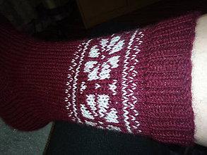 Obuv - Ručne pletené vlnené ponožky - 11493256_