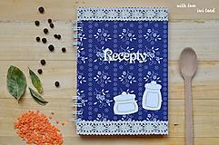 Receptárik - modrotlač (dózičky)