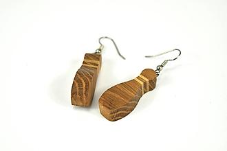 Náušnice - Náušnice drevené - kolky orech, jaseň, dub, chirurgická oceľ - 11493829_