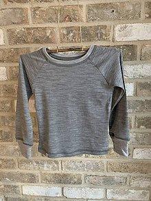 Detské oblečenie - Detské merino tričko s dlhým rukávom (100% merino) - 11494720_