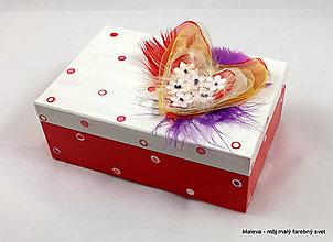 Krabičky - šperkovnica So srdiečkom - 11493488_