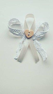 Pierka - Biele svadobné pierko s čipkou - 11493630_