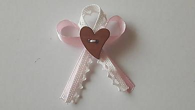 Pierka - Ružovo - biele svadobné pierko - 11493731_