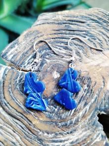 Náušnice - Náušnice tmavo modré srdce - 11494157_
