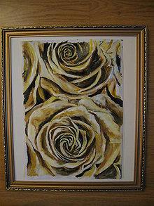 Obrazy - Zlaté ruže - 11493709_
