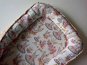 Textil - Hniezdo do postieľky Labutia princezná - 11491997_