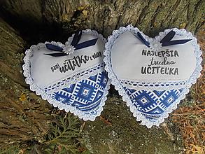 Dekorácie - Srdiečko pani učiteľke-Folk - 11492002_