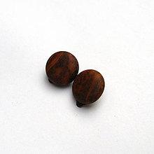 Náušnice - Drevené náušnice klipsňové - topoľové vypuklé krúžky - 11494066_