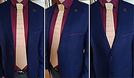 Doplnky - Drevená kravata pre pánov - 11491353_