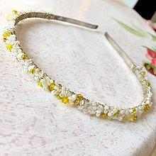 Ozdoby do vlasov - ZĽAVA 50% Jasmine Flower Beaded Headband / Korálková čelenka#0257 - 11495632_