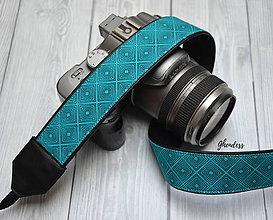 Iné doplnky - Popruh na fotoaparát - Turquoise - 11497313_