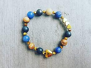 Náramky - Dámsky náramok (sodalit, obrázkový jaspis) - 11496122_