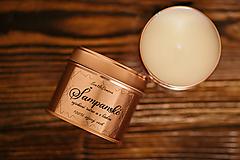 Svietidlá a sviečky - Sójová sviečka v plechovke - RoseGold - Šampanské - 11497503_
