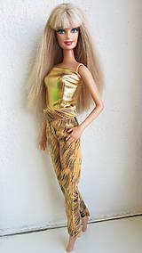 Hračky - Žlté nohavice pre Barbie - 11498765_