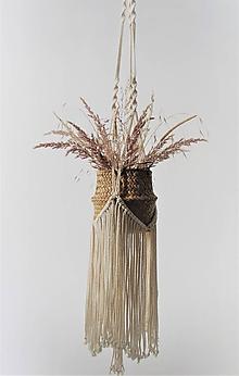 Dekorácie - Makramé závesný držiak na kvety WONDER - 11497671_