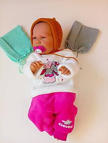 Detské čiapky - Pletené čiapky - 11495295_