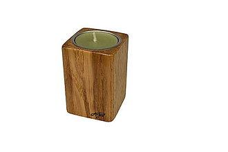 Svietidlá a sviečky - Svietnik Kubík Oak - 11498095_