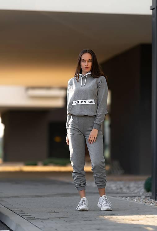 Teplákové nohavice šedé