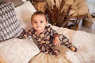 Detské oblečenie - pyžamko čokoláda - 11498395_