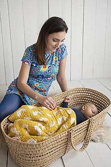 Tehotenské/Na dojčenie - Šaty na dojčenie Folk krátky rukáv - 11495770_