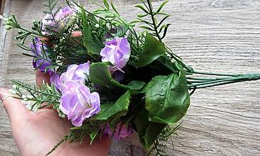 Galantéria - Kytička umelých kvetov - 11495246_