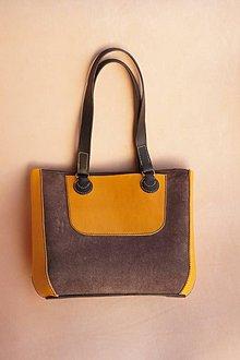 Veľké tašky - Dámska tote bag (Žltá) - 11498272_