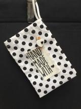 Úžitkový textil - vrecúško bodkované... - 11495646_