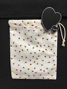 Úžitkový textil - vrecúško -tulipán - 11495787_