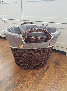 Úžitkový textil - Poťah do koša na drevo - 11496335_