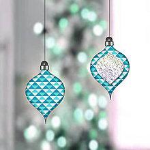 Dekorácie - Trblietavé vianočné ozdoby - krištáľové (dekorácia) - 11497976_