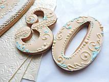 Dekorácie - Medovníkové číslice 8 cm - 11499569_