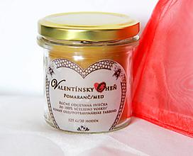 Svietidlá a sviečky - SVIEČKA valentínsky oheň s vôňou pomaranča - 11500981_
