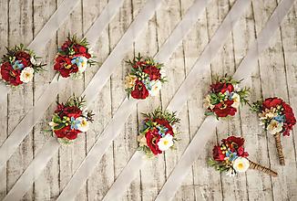 Náramky - Folk kvetinový náramok pre družičky - 11501278_