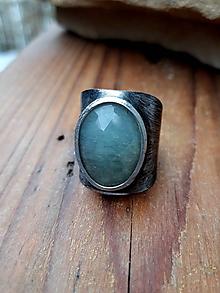 Prstene - Akvamarín / prsteň - 11501039_