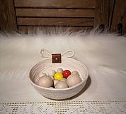 Nádoby - Košíček s mašličkou - 11501592_