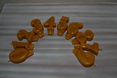 Svietidlá a sviečky - Sviečky na tortu z včelieho vosku - 11499414_