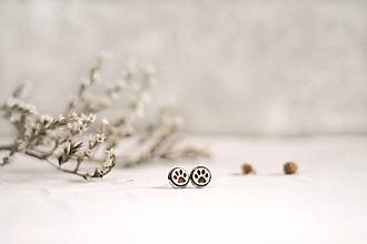Náušnice - Mini Labky v lôžku - 11500072_