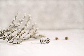 Náušnice - Mini Srdiečko v lôžku - 11500106_