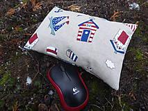 Úžitkový textil - Malá morská pohánkovo-špaldová podložka na zápästie - 11499662_