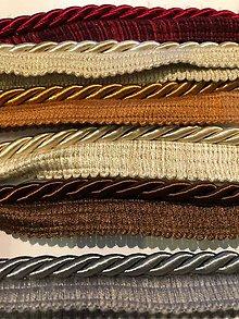 Galantéria - Ozdobné šnúry s výpustkom beige 6 mm - 11500443_