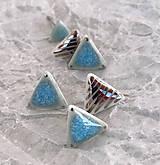Náušnice - Trojuholníky. - 11501416_