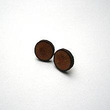 Náušnice - Drevené náušnice napichovacie - z imelovej halúzky - 11501824_