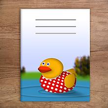 Papiernictvo - Kačací zápisník - puntíková kačka - 11499155_