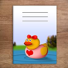 Papiernictvo - Kačací zápisník - zamilovaná kačica - 11499189_