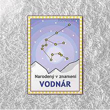 Detské doplnky - Miľníková kartička - znamenie Vodnár - 11501723_