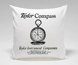 Úžitkový textil - Vankúš - kompas - 11504599_