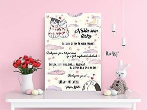 Dekorácie - Tabuľka vyznanie lásky - Valentín 2 - 11504210_