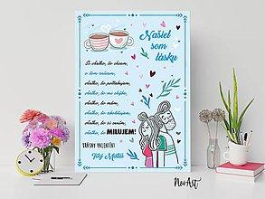 Dekorácie - Tabuľka vyznanie lásky - Valentín 3 - 11505188_
