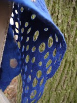 Šály - Modrý dámsky vlnený šál - 11504929_